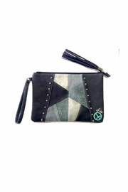 Love's Hangover Creations Studded Patchwork Clutch - Front cropped