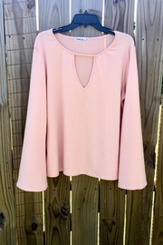 Love's Hangover Creations Stylish Peach Top - Front cropped