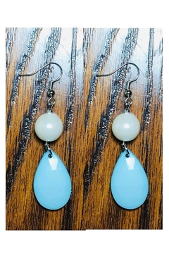 Love's Hangover Creations Teardrop Turquoise Earring - Alternate List Image