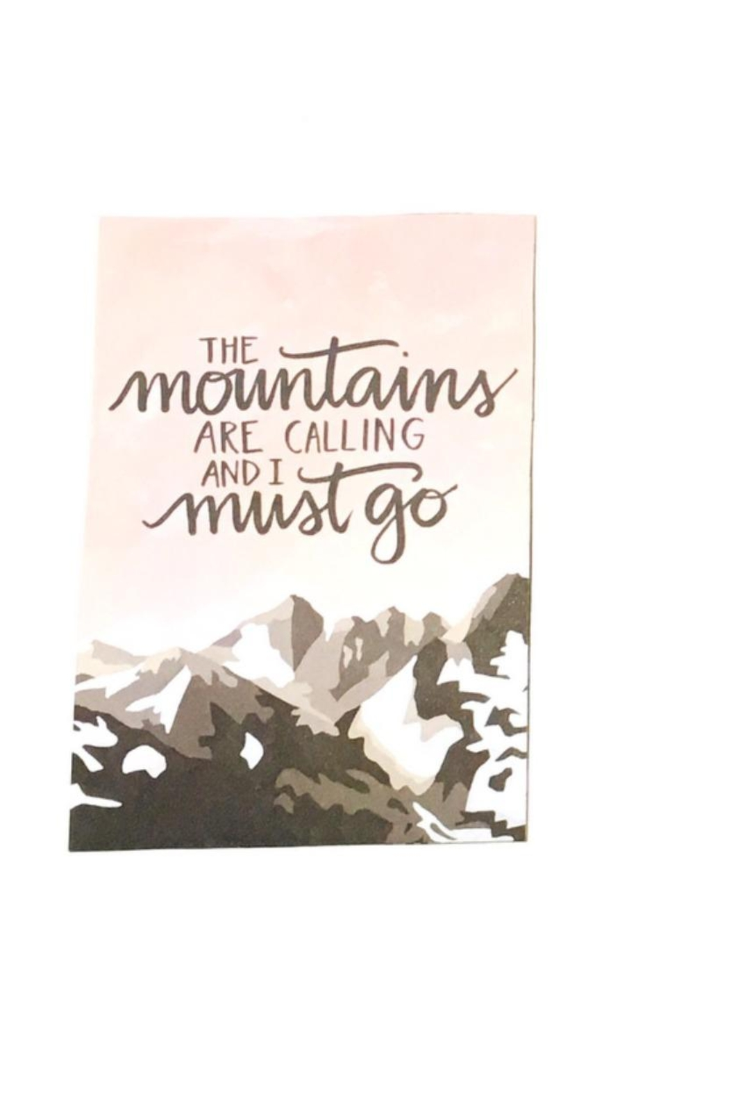 Love's Hangover Creations Mountain Greeting Cards - Main Image
