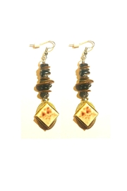 Love's Hangover Creations Vintage Gold-And-Silver Earrings - Product Mini Image