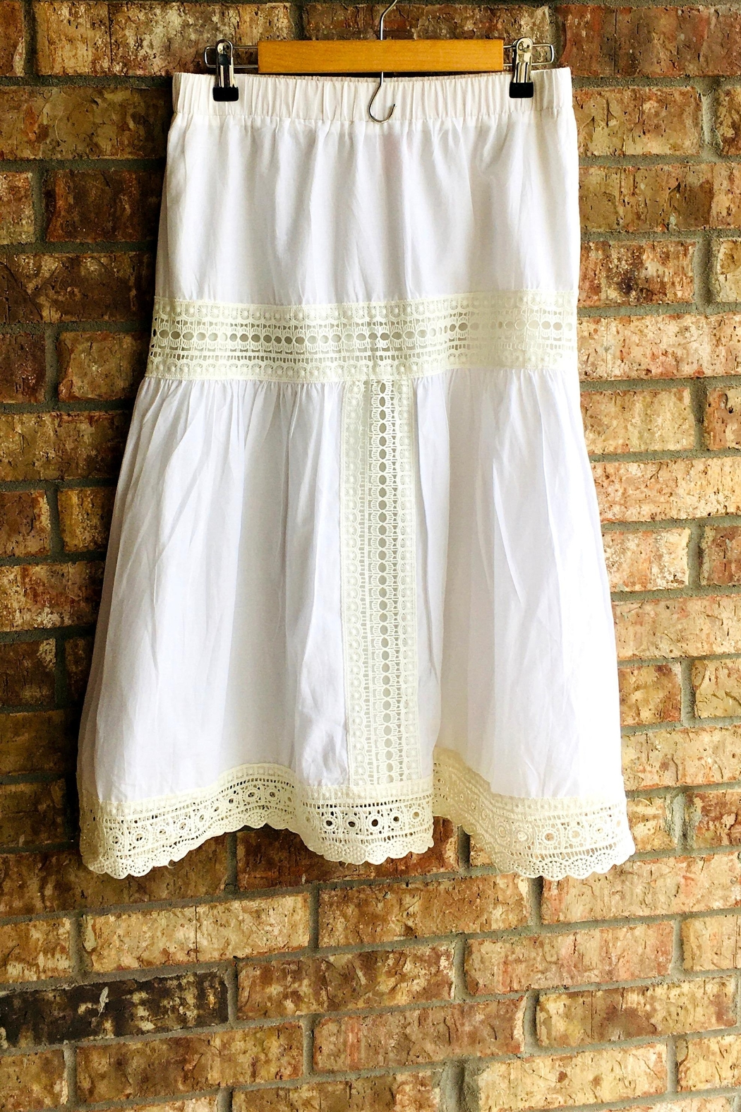 Love's Hangover Creations White Boho Skirt - Front Cropped Image
