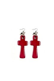 Love's Hangover Creations Wooden Ankh Earrings - Product Mini Image