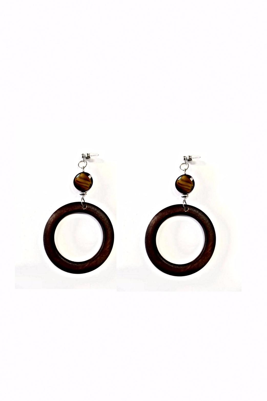 Love's Hangover Creations Wooden Hoop Earrings - Main Image