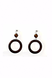 Love's Hangover Creations Wooden Hoop Earrings - Product Mini Image