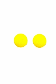 Love's Hangover Creations Yellow Button Earrings - Product Mini Image