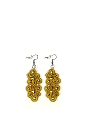 Love's Hangover Creations Yellow Crochet Earrings - Product Mini Image