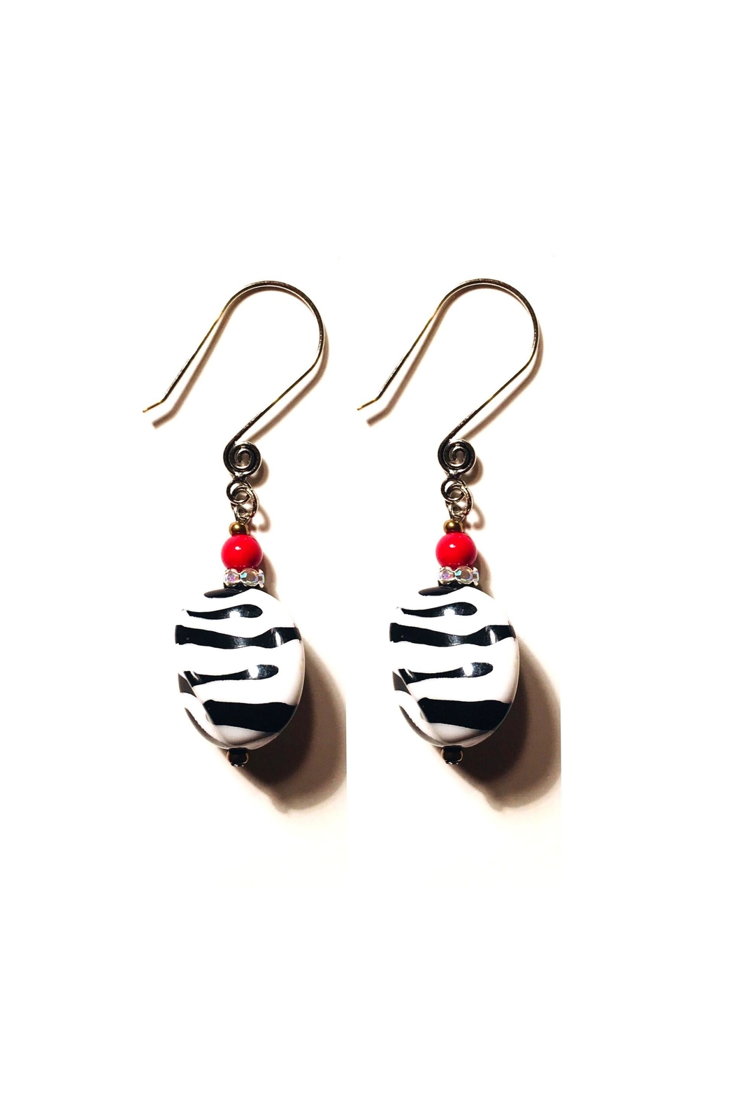 Love's Hangover Creations Zebra Print Earrings - Main Image