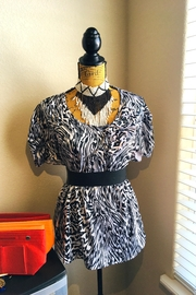 Love's Hangover Creations Zebra Print Top - Front cropped