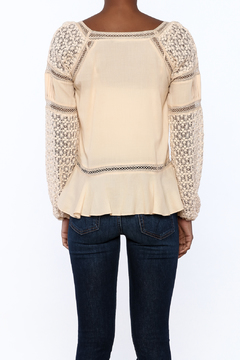 Shoptiques Product: Beige Peasant Top