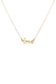 Kris Nations LOVE SCRIPT NECKLACE - Product Mini Image