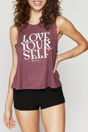 Spiritual Gangster  Love Self Crop Tank - Front cropped