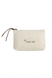 Mud Pie Love-Sentiment Canvas Pouch - Product Mini Image