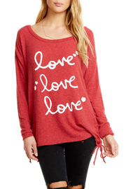 Chaser Love Side Lace Up Pullover - Product Mini Image