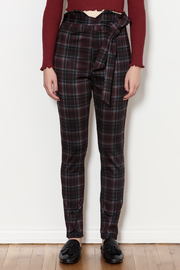 Love Song Tie Plaid Pants - Product Mini Image