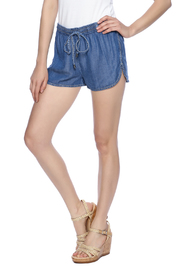 Lovestitch Chambray Drawstring Shorts - Product Mini Image