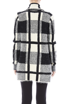 love token Draped-Collared Plaid Sweater - Alternate List Image