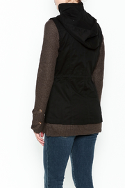 Love Tree Black Hooded Vest - Back cropped
