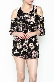 Love Tree Cold Shoulder Romper - Product Mini Image