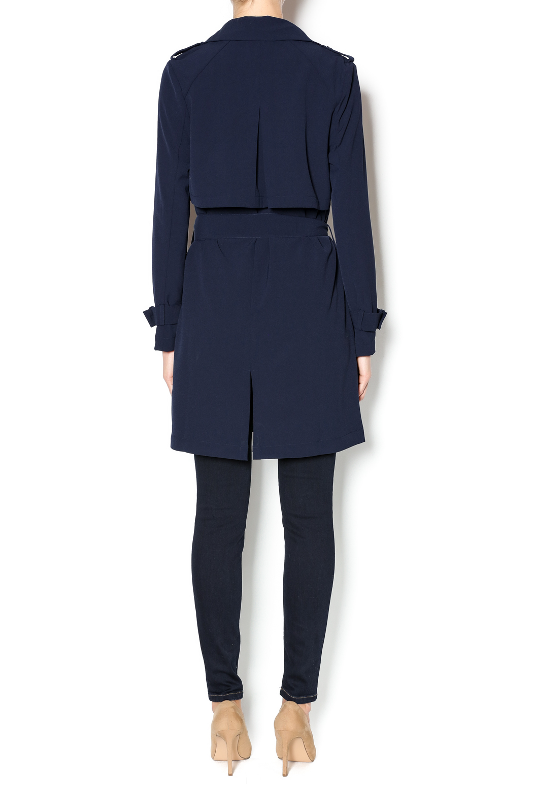 Love Tree Dressy Trench Coat - Side Cropped Image