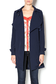 Love Tree Dressy Trench Coat - Front cropped