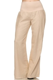 Love Tree Linen Mocha Pants - Product Mini Image