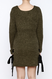 Love Tree Olive Sweater Dress - Back cropped