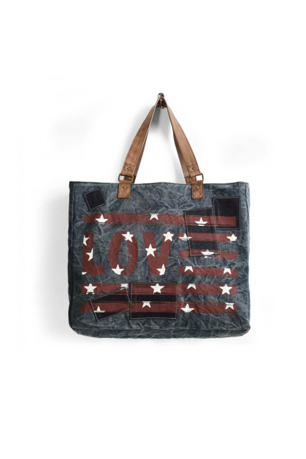Mona B Love Weekender Tote - Front Cropped Image