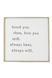 Mud Pie  Love You Always Plaque - Product Mini Image