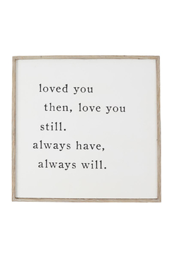 Mud Pie  Love You Always Plaque - Product List Image