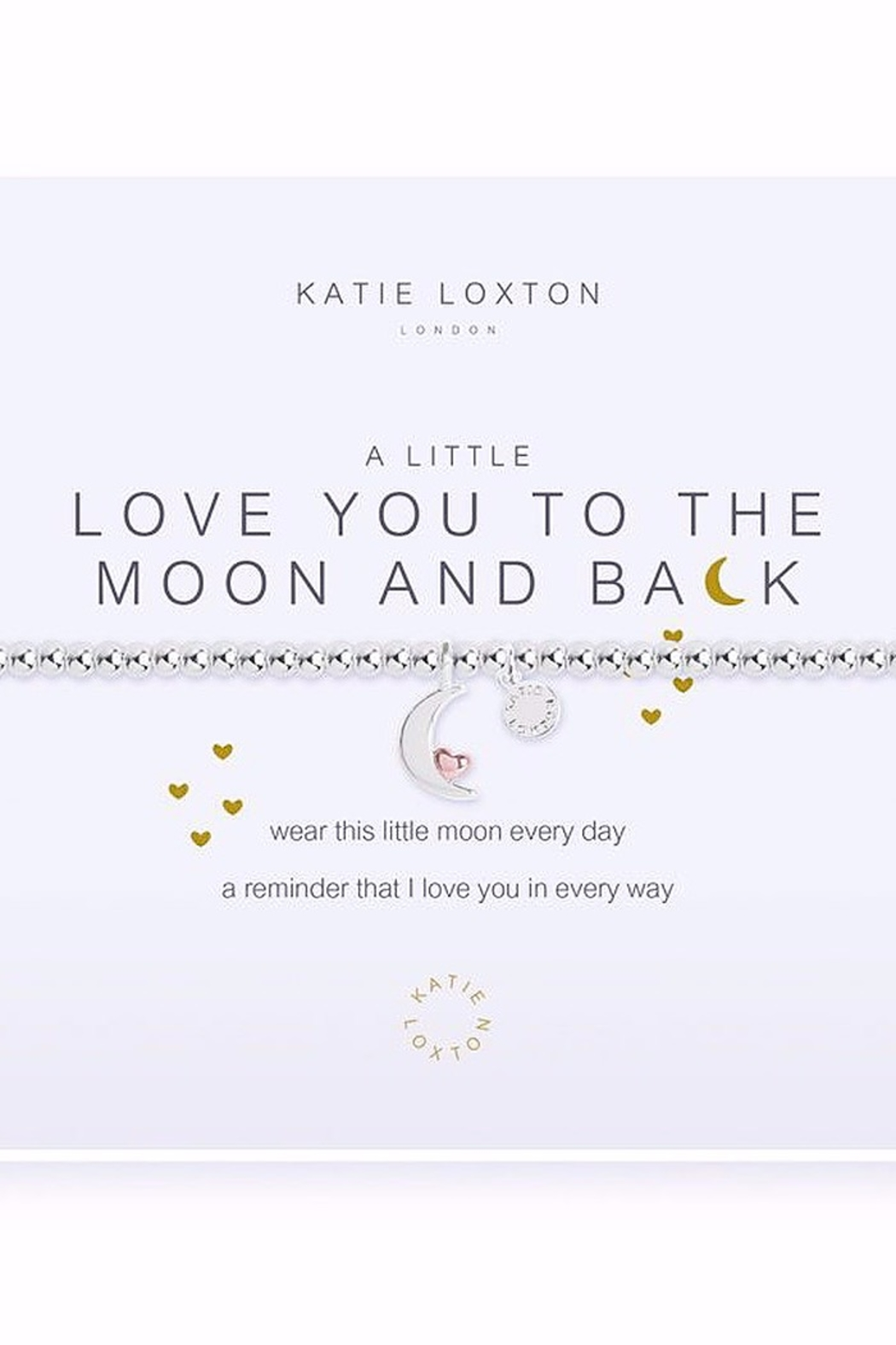 Katie Loxton Love You To The Moon Bracelet - Main Image