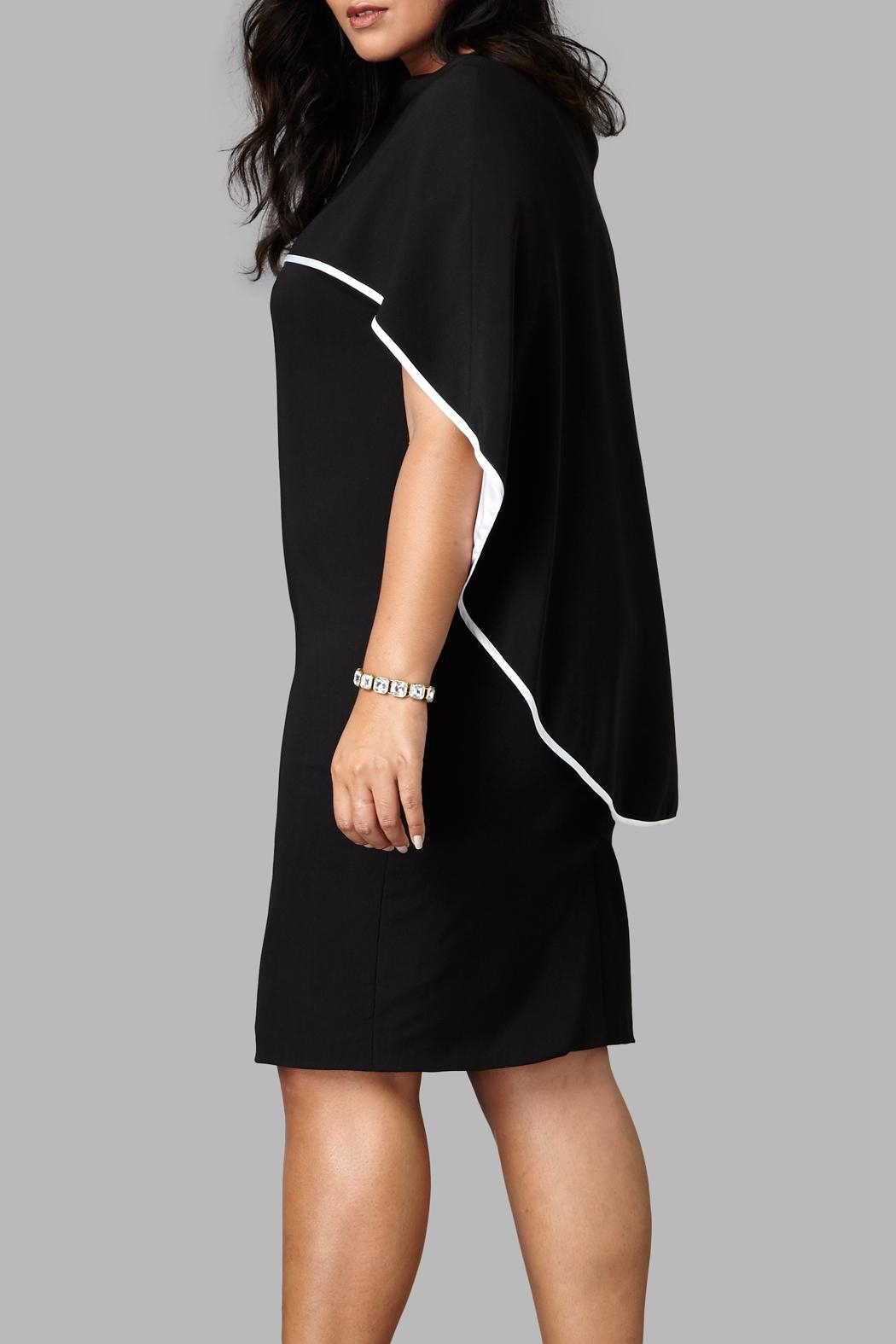 Love By Yona Drape Cape Dress - Front Full Image