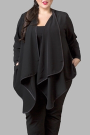 Love By Yona Draped Overpiece Black - Front cropped