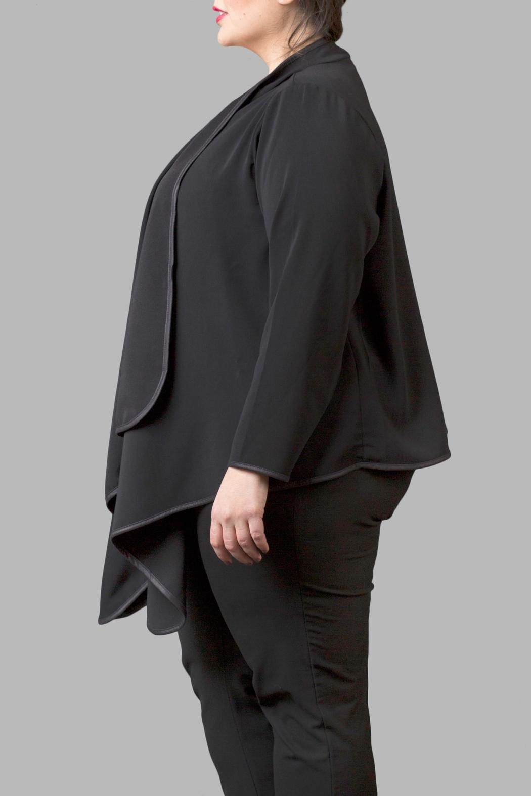 Love By Yona Draped Overpiece Black - Front Full Image