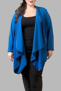 Love By Yona Draped Overpiece- Blue - Product List Image