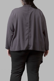 Love By Yona Draped Overpiece- Grey - Front full body