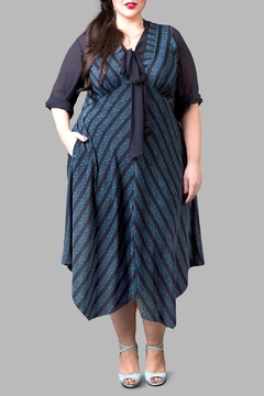Love By Yona Empire Waist Dress-Blue - Product List Image