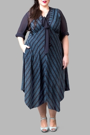 Love By Yona Empire Waist Dress-Blue - Product Mini Image