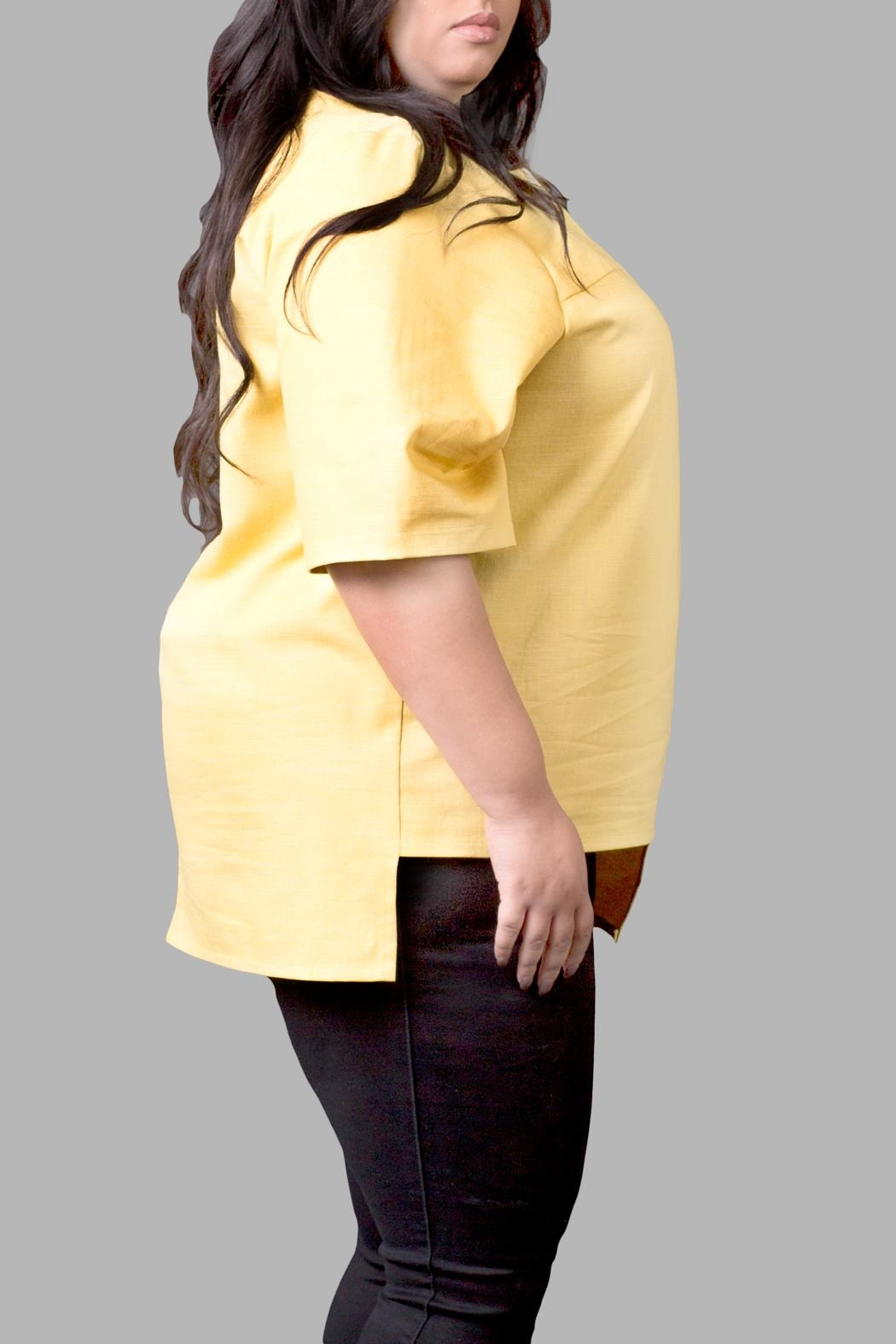 Love By Yona High/low Top-Yellow - Front Full Image