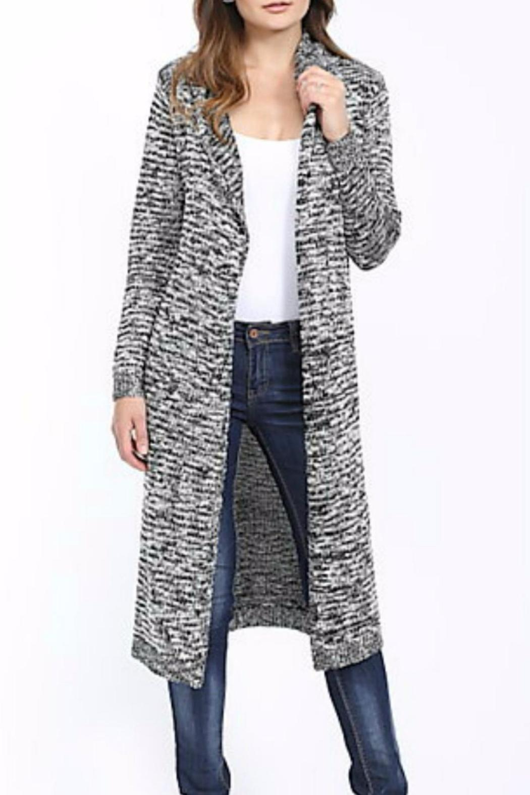 LOVE CULTURE Black/white Duster Cardigan from Tennessee by Cosmo ...