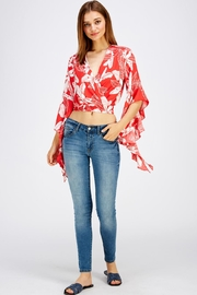 Love Encounter Red Floral Top - Side cropped