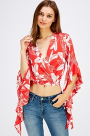 Love Encounter Red Floral Top - Front cropped