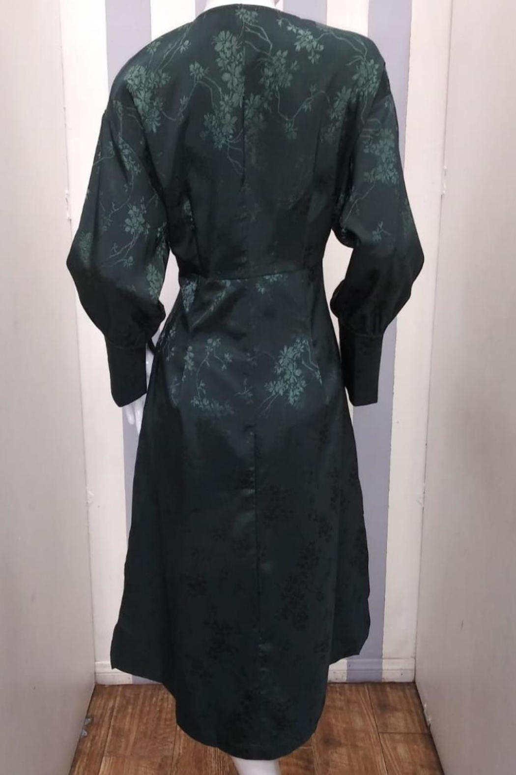 Love Harmony Green Floral Duster - Front Full Image