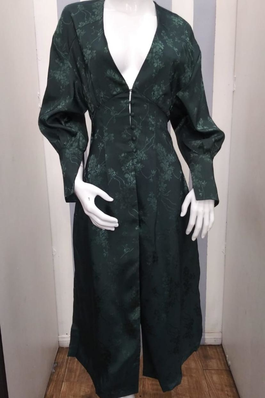 Love Harmony Green Floral Duster - Main Image