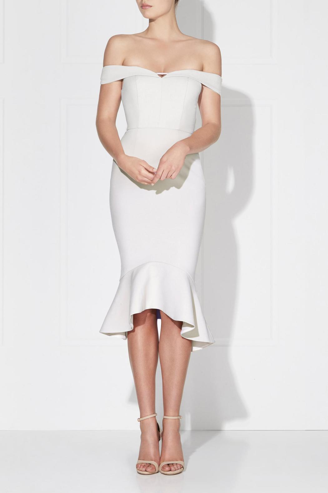 Love Honor Rosetta Midi Ivory Dress - Main Image