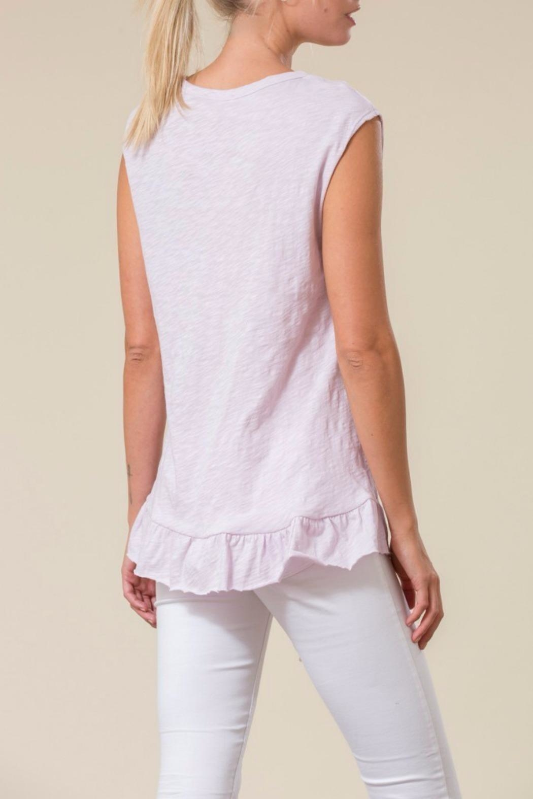 Love in  Asymetrical Ruffle Top - Front Full Image