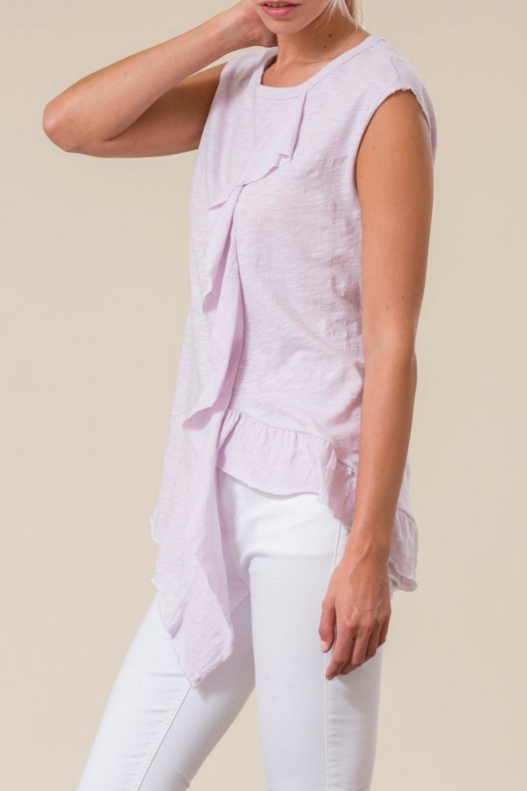 Love in  Asymetrical Ruffle Top - Side Cropped Image