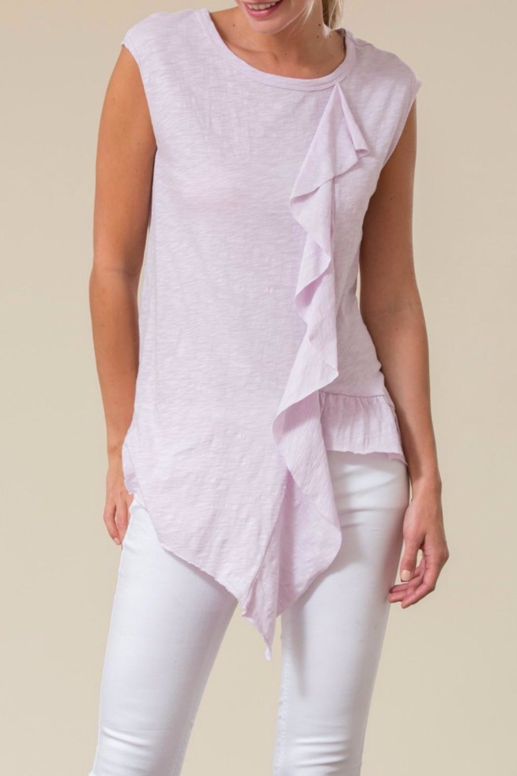 Love in  Asymetrical Ruffle Top - Front Cropped Image