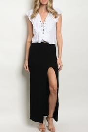 Love in  Black Slit Skirt - Product Mini Image