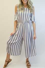 Love in  Blue Striped Jumpsuit - Product Mini Image